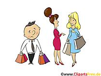 カップルショッピング - 人、人々のイメージ、クリップアートの人々