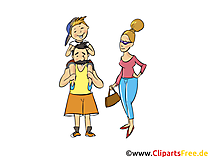 Papa, Mama, Kind Clipart - Menschen, Menschen-Bilder, Cliparts Menschen
