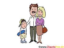 お父さん、お母さん、息子、家族のクリップアート、イラスト、グラフィック