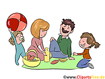 Picknick, Ausflug Clipart, Illustration, Bild