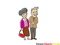 Rentner, Rentnerpaar - Menschen, Menschenbilder, Cliparts Menschen