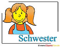 Schwester Clipart free Mädchen