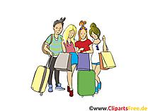 Shopping im Urlaub - Menschen, Menschenbilder, Cliparts Menschen