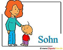 Son and Mom Clipartを無料でダウンロード