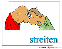 Streiten Clipart free Emotionen