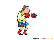 Training Boxen Clipart, Bild, Cartoon, Illustration