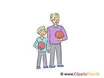 Vater und Sohn Familie Illustrationen und Cliparts