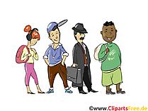 Warteschlange Clipart - Menschen, Menschenbilder, Cliparts Menschen