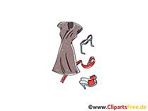 Abendkleid Clipart, Bild, Illustration, Grafik,  Image kostenlos