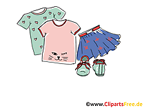 Damengarderobe Clipart, Bild, Illustration, Grafik,  Image kostenlos