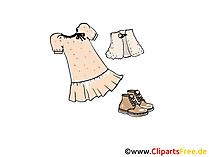 Damenkleider Clipart, Bild, Illustration, Grafik,  Image kostenlos