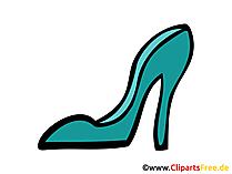 Frauenschuh Bild, Clipart, Zeichnung, Illustration, Comic gratis