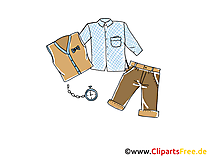 Herrenmode Clipart, Bild, Illustration, Grafik,  Image kostenlos