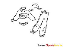 Hose, Mütze, Pullover Clipart, Bild, Illustration, Grafik kostenlos