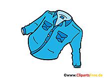 ジーンズシャツ画像、クリップアート、デッサン、イラスト、コミック無料