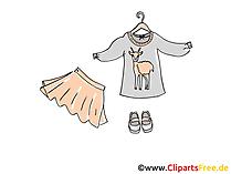 Kleidung, Mode, Garderobe Clipart, Bild, Illustration kostenlos