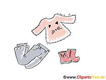 Mädchen Mode Clipart, Bild, Illustration, Grafik,  Image kostenlos