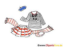 Matrose Kleidung Clipart, Bild, Illustration, Grafik,  Image kostenlos