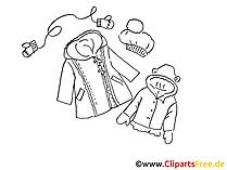 Outdoorbekleidung Clipart, Bild, Illustration, Grafik,  Image kostenlos
