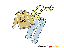 Sweater, Jenas, tas clipart, foto, illustratie gratis