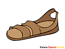 Sandalen Bild, Clipart, Zeichnung, Illustration, Comic gratis