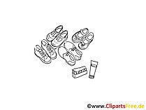 Schuhpflege Cliparts schwarz-weiss, Bilder, Grafiken kostenlos