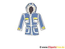 冬のジャケットのクリップアート