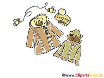 Winterkleidung für Kinder Clipart, Bild, Illustration, Grafik kostenlos