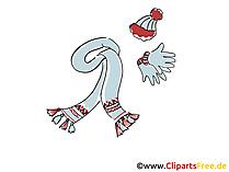 Wintermütze und Schal Damen Clipart, Bild, Grafik gratis