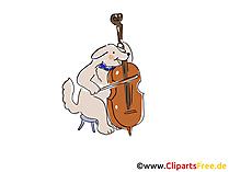 Suonare il violoncello clip art, immagine, fumetto