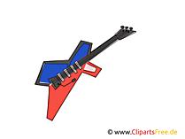 Elektro Gitarre Bilder, Cliparts, Grafiken