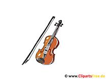 バイオリンの弓クリップアートとバイオリン