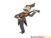Foto di violinista, clip art, illustrazione