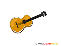 Gitarre Bild, Clipart, Grafik, Cartoon