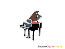 Klavier, Flügel Bild, Clipart - Kostenlose Bilder herunterladen