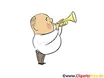 L'uomo suona la tromba