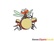 ドラム演奏漫画、漫画、クリップアート、絵、デッサン、無料イラスト
