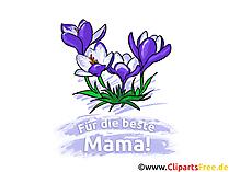 Anneler Günü kartı için çiçekler