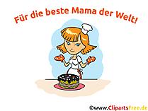 Cartoon zum Muttertag Glückwunschkarte