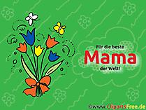 Dünyadaki en iyi anne için tebrik kartı