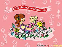 Glükwunschkarte zum Muttertag