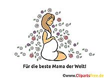 Glückwunschkarte zur Geburt - Für beste Mama der Welt