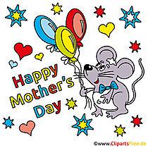 Karte zum Muttertag auf Englisch