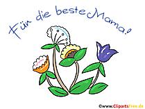 Anneler Günü kartı çiçekli