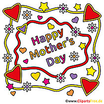 Bizim clipart ile anneler günü için kartları kendiniz yapın