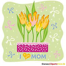 Anneler Günü için kart şablonları