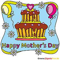 Anneler Günü için ücretsiz tebrik kartı