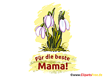 Anneler günü kartı, resim, çiçekli mesaj