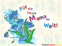 Muttertag Clipart, Bild, Illustration, Karte