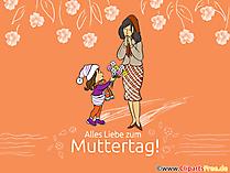 Muttertag Glückwunschkarte kostenlos verschicken
